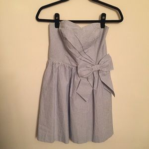 LILLY PULITZER Striped Strapless Bow Dress   M